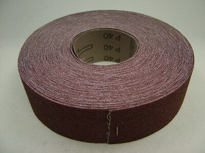 Brown Emery Cloth Roll, 50mm wide 25m roll aluminium oxide sandpaper 40 grit