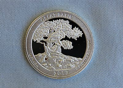 2013-S Great Basin Silver Proof ATB Quarter Ultra Deep Cameo