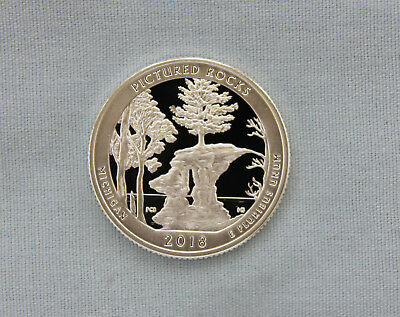 2018-S Pictured Rocks Silver Proof National Park Quarter Ultra Deep Cameo