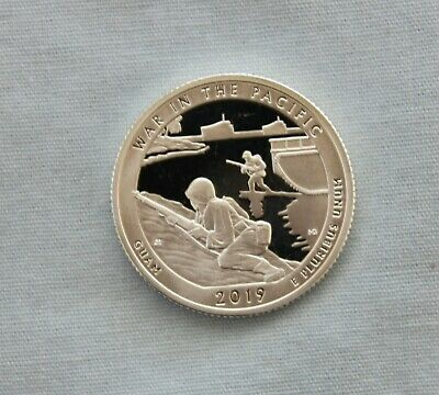 2019-S War in the Pacific Silver Proof National Park Quarter Ultra Deep Cameo