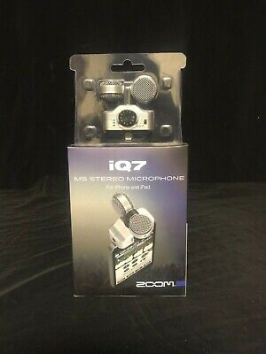 Zoom iQ7 - Rotating Mid Side Stereo Capsule for iOS with Lightning (New) IG336