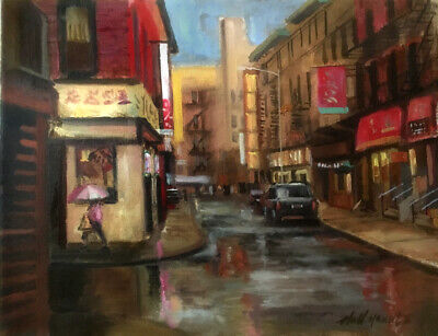 Chinatown, New York City 11x14 in. Oil on canvas  HALL GROAT II