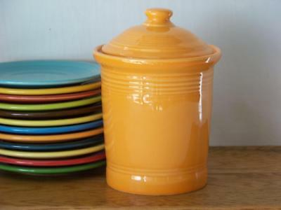 Fiesta® TANGERINE Small Canister - Discontinued Color - 1st Quality