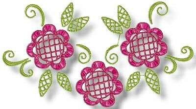 FLOWERS LACE LOOK 10  MACHINE EMBROIDERY DESIGNS CD or USB