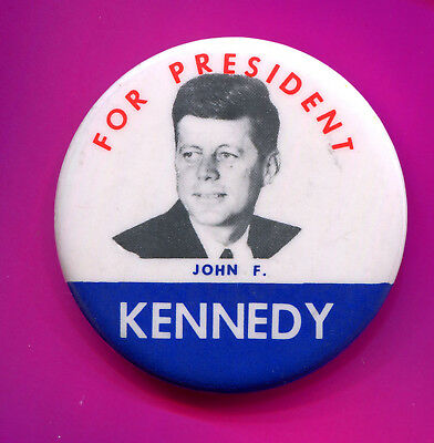 5052 Vintage 1960 John Kennedy Presidential Campaign Button
