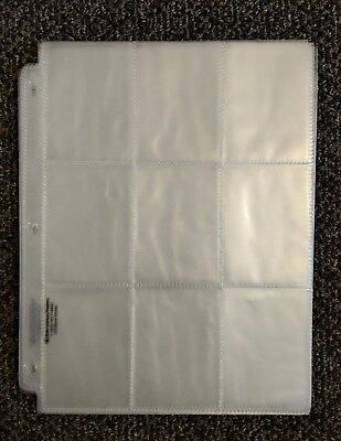 25 3 Ring Trading Card Pages Album Binder Plastic Protector Sleeves 9 Pocket