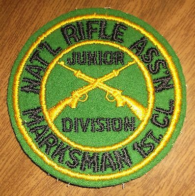 Older Sewing Felt Patch - NRA Junior Division Marksman 1st Class