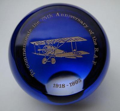 Caithness Scotland Limited Ed 75Th Anniversary Raf Paperweight Royal Air Force