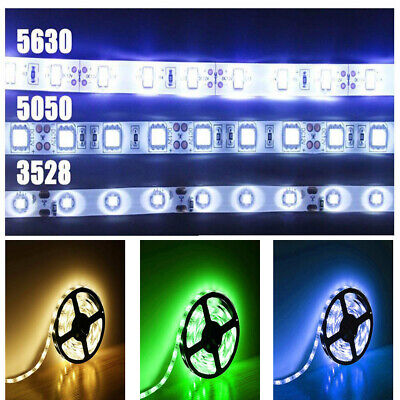5/10/20/50M SMD LED 5050 3528 RGB Strip Light Kit Flexible Dimmable Waterproof