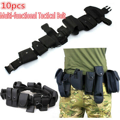 Security Tactical Patrol Belt & Pouch System Police Prison Guard Utility Kit Set