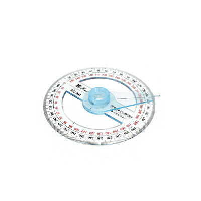 Portable 360 Degree Pointer Protractor Measuring Tool School Office Supplies