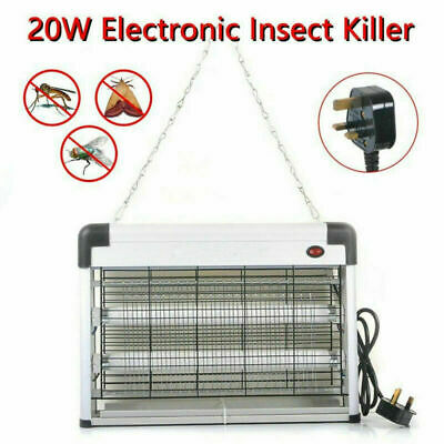 20W ELECTRIC FLY KILLER GRID KILLING ZAP BUG ZAPPER INSECT FLYING HOME UV 2x10W