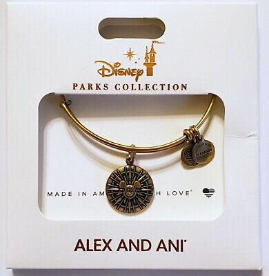 Disney Parks ALEX & ANI bracelet Mickey's Fun Wheel - gold tone - NEW