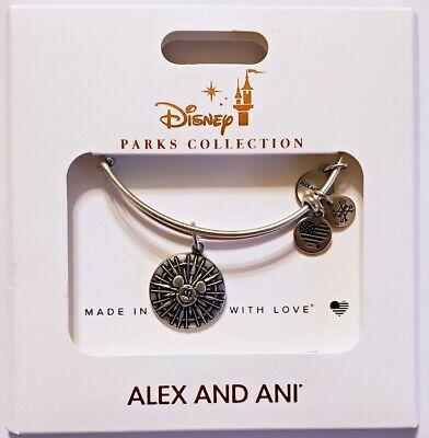 Disney Parks ALEX /& ANI bracelet BELIEVING IS JUST THE BEGINNING silver tone NEW