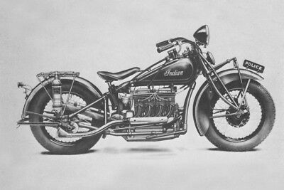 Indian '4' 403 Four Police 1933 motorcycle photo new model press photograph