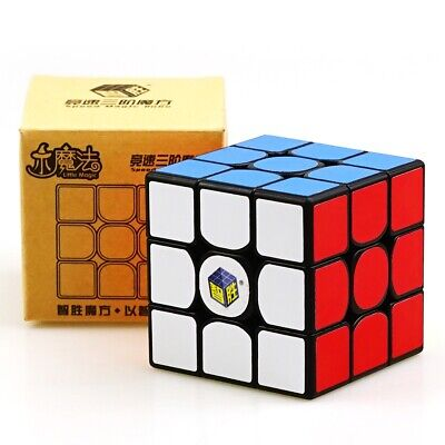 HOT YuXin Little magic 3x3x3 Speed Contest Magic Cube Twist Puzzle Toys Black