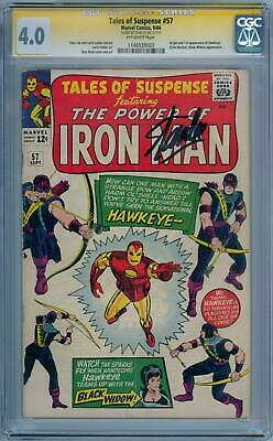 Tales Of Suspense #57 Cgc 4.0 Signature Series Signed Stan Lee 1St Hawkeye Movie