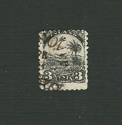 Liberia 1881 3 Cent Black Definitive Stamp. Sg. 18, Good Used