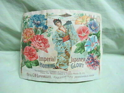 1897 Imperial Japanese Morning Glory Label