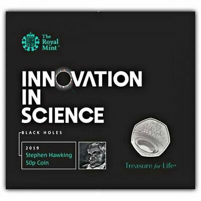 Celebrating the Life of Stephen Hawking 2019 UK 50p Brilliant Uncirculated Coin
