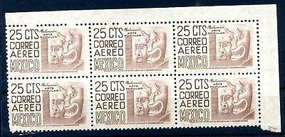 ARCHAEOLOGY - MEXICO Yvert # 170 Block of 6, MNH, VF