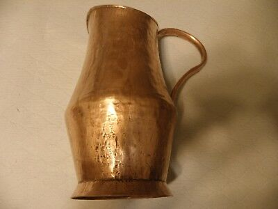 Vintage/antique hammered copper water pitcher