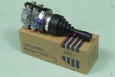 Monolever Joystick Switch HKA1-41Y04 Latching AC 15 Amp 15A 4NO 4 Position 380V