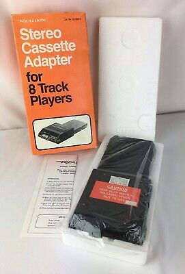 Realistic Stereo Cassette Adapter 12-1875A for 8 Track Players Vintage Japan