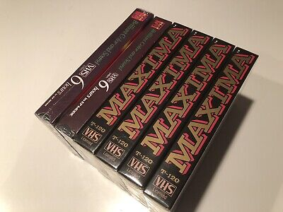 New - Lot Of 6  - Maxima & Ldk Vhs T-120 Blank Tapes High Grade - 6Hr
