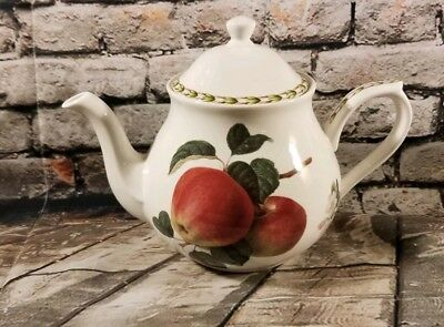Queens Royal Hookers Fruit Fine Bone China Red Apple Teapot