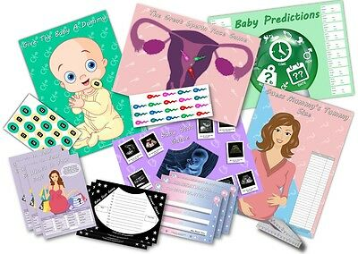 Baby Shower Party Games  ~  6 GAMES  UNISEX  -  up to 20 players