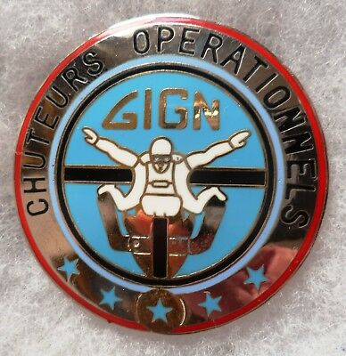 Insigne Parachutiste OBSOLETE GIGN CHUTEURS OPERATIONNELS ORIGINAL Boussemart