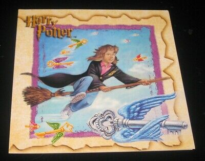 Harry Potter cartoon style blank greeting card, Hogwarts, Hermione Quidditch car