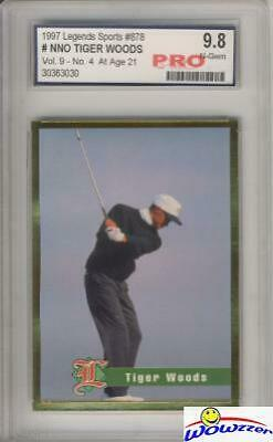 1997 Legends Tiger Woods ROOKIE - At Age 21 PRO 9.8