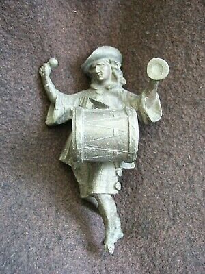 VINTAGE 1930s GERMAN MUSICIAN CLOCK ORNAMENT? - ERDING CITY/TOWN DRUMMER MASCOT