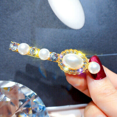 Charm Oval Crystal Hair Clip Barrette Hairpin Bobby Pin Women Accessories Gift
