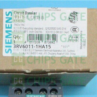 1PCS New Siemens Circuit Breaker 3RV6011-1HA15 5.5-8A Leakage Protection