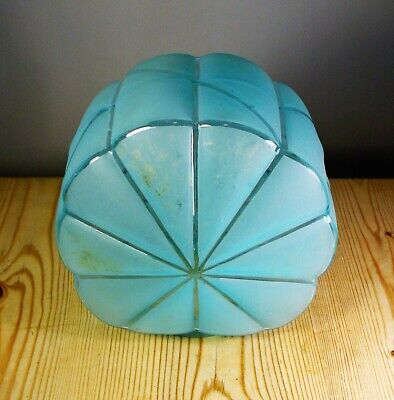 Art Deco Blue Glass Lamp Shade