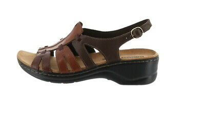95bb93c5f2d Clarks Bendables Lexi Marigold Leather Sandals Brown Multi 9-1 2WW NEW  A212296