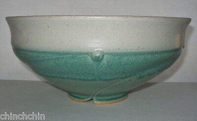 Incredible SIGNED Hand Crafted POTTERY or PORCELAIN Big BOWL Intensely GORGEOUS