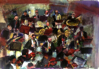 New York Symphony Orchestra 35 x25 in. Acrylic on panel Hall Groat Sr.