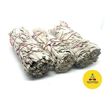 "Lot of 10 Ten White Sage Smudge Sticks / Wand 3""-4"" House Cleansing"