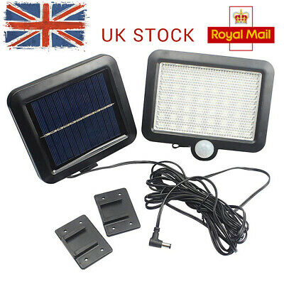 Solar Charge PIR Motion Sensor Outdoor Garden Light Security Flood Lamp 56 LED