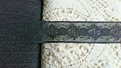 Black Cluny Cotton Lace Edging Little Trimming Dolls Dresses Sew Crafting Trims