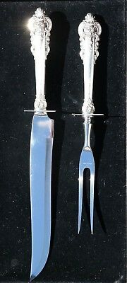 """Grand Baroque By Wallace Sterling Silver Large Carving Roast Set 14"""""""