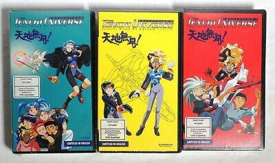 P0419. Tenchi Universe MUYO ON EARTH #1-3 Anime VHS Subbed Pioneer (1997) SEALED