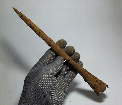 ANCIENT Authentic Viking period Iron Combat SPEAR JAVELIN 9-10 cen. AD#87