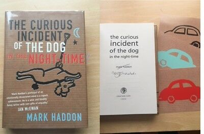 SIGNED Curious Incident of the Dog Night-time by Mark Haddon ++ UK HB 1st/1st