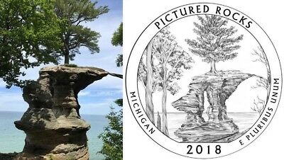 2018 PDS Pictured Rocks National Lake shore National Park Quarter U.S. Mint Coin