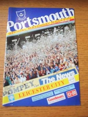 19/05/1993 Play-Off Semi-Final Division 1: Portsmouth v Leicester City  . No obv